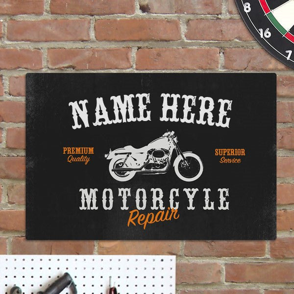Personalized Motorcycle Metal Sign