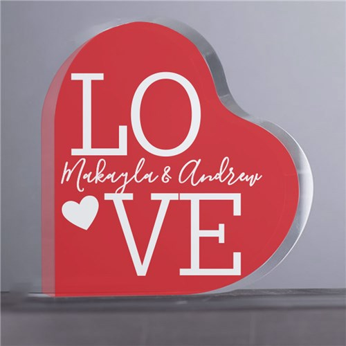 LOVE Personalized Heart Shaped Keepsake