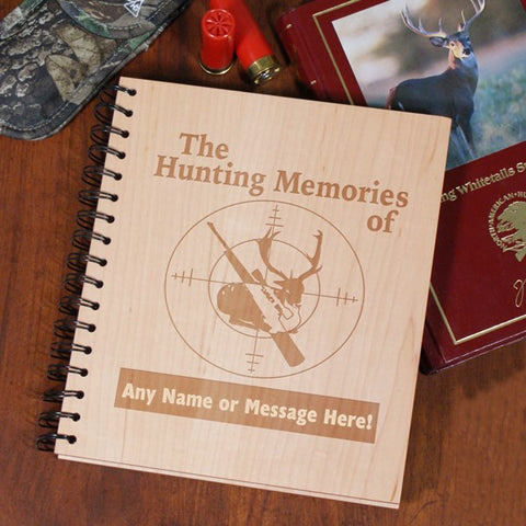 Hunting Memories Engraved Wood Photo Album