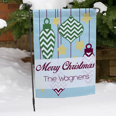 Christmas Ornaments & Stars Personalized Garden Flag