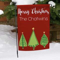 Christmas Trees Personalized Garden Flag