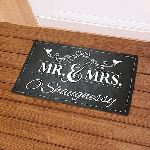 Mr. & Mrs. Chalkboard Doormat