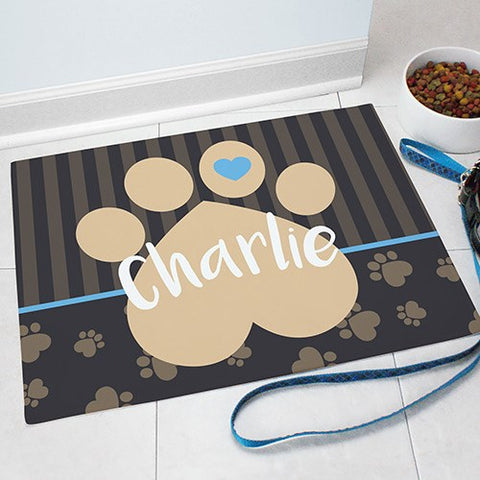 Heart Print Personalized Food Mat