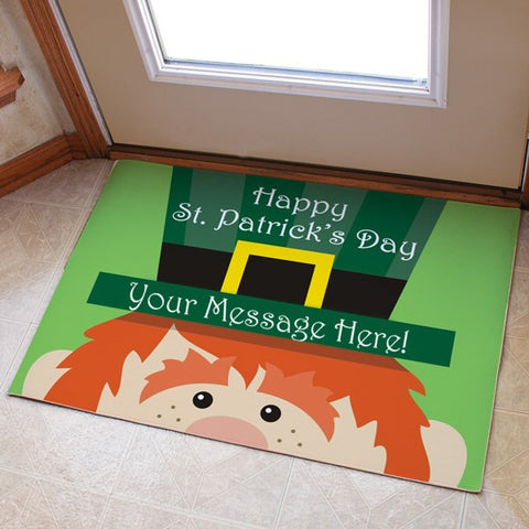 St. Patrick's Day Personalized Doormat