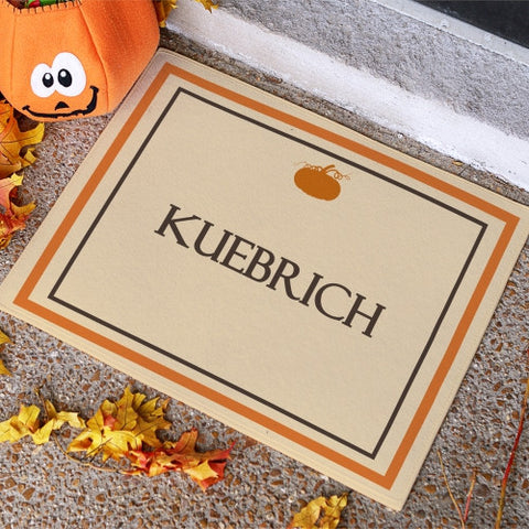Fall Pumpkin Doormat