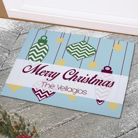 Christmas Ornaments Doormat