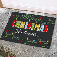 Christmas Lights Doormat
