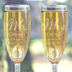 Mr. and Mrs. Personalized Flute Set