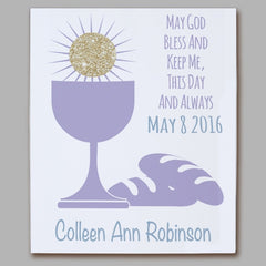 First Eucharist Personalized Wall Canvas