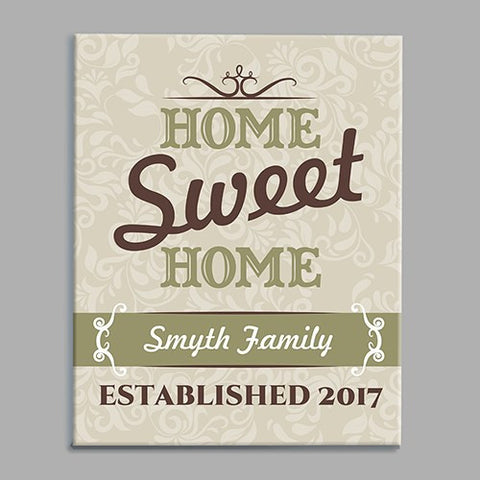 Home Sweet Home Custom Wall Canvas