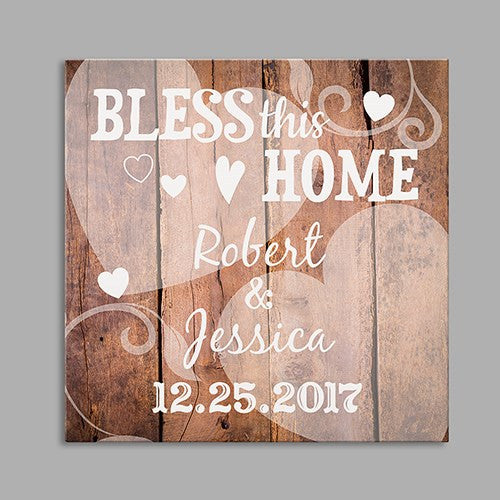 Bless This Home Wedding Canvas