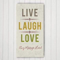 Live Laugh Love Personalized Canvas Print