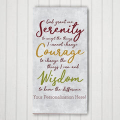 Serenity Prayer Personalized Canvas Print