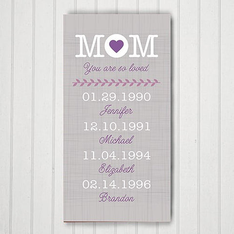 Custom Mom Canvas Print