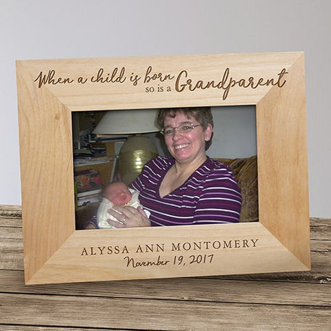 Engraved Grandparent Wood Frame