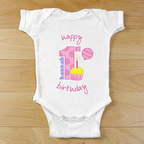8f76e4576 Baby Girl s 1st Birthday Creeper or T-shirt