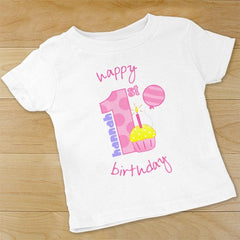 Baby Girl's 1st Birthday Creeper or T-shirt