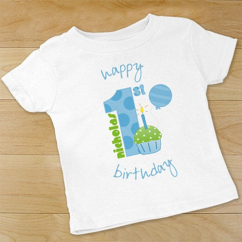 6ff0eef25653 Baby Boy's 1st Birthday- Creeper or T-shirt | Bellas Personal Gifts