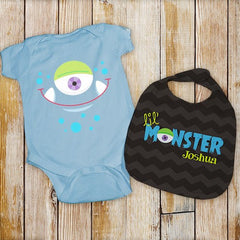 Lil' Monster Infant Bodysuit & Bib Set