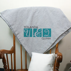 Personalized Couple's Sweatshirt Blanket