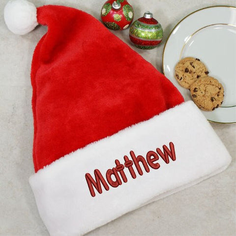Embroidered Santa Hat