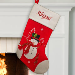 Personalized Snowman Stocking