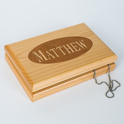 Engraved Monogram or Name Valet Box