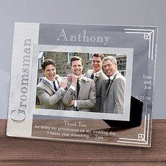 Custom Wedding Party Glass Picture Frame