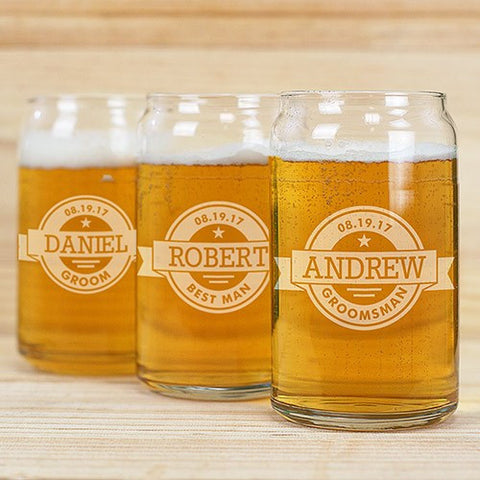 Custom Label Beer Can Glass