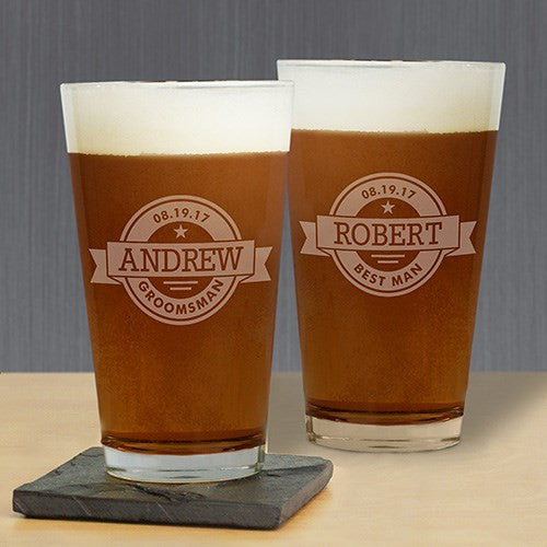 Custom Label Pint Glass