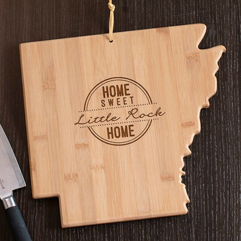 Arkansas State Shaped Cutting Board