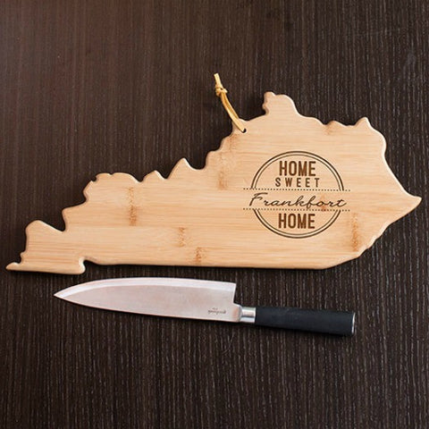Kentucky State Shaped Cutting Board