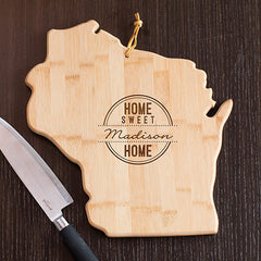 Wisconsin State Shaped Cutting Board