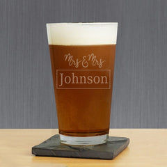 Couple's Custom Pint Glass