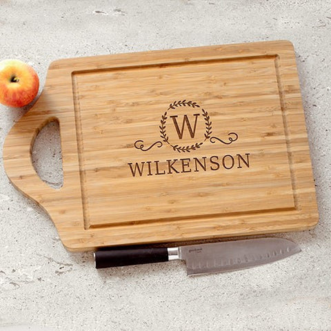 Engraved Initial & Name Cutting Board