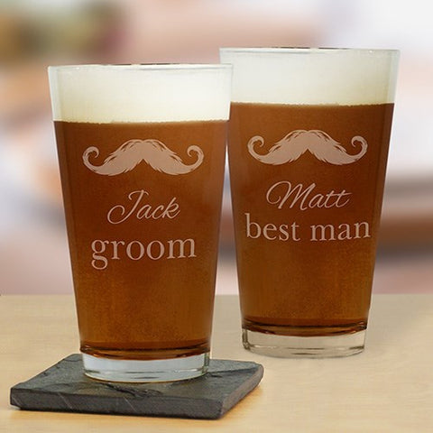 Engraved Groomsmen Pint Glass