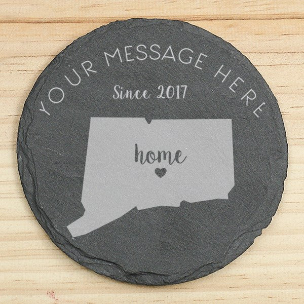 Home State Slate Coaster Set