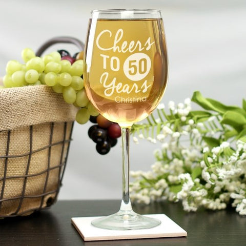 Engraved Birthday Wine glass