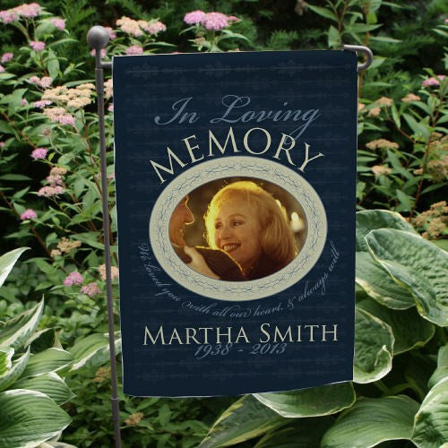 In Loving Memory Photo Garden Flag