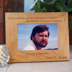 Memory Becomes A Treasure Wood Frame