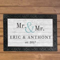Custom Couple's Doormat