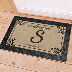 Family Name & Initial Doormat