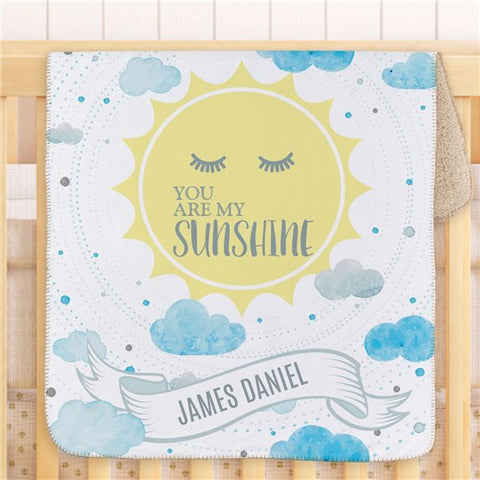 Personalized Sunshine Baby Blanket
