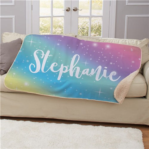 Personalized Rainbow Blanket