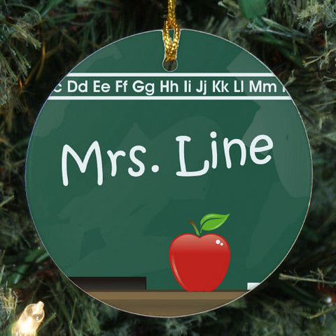 Teacher's Chalkboard Christmas Ornament