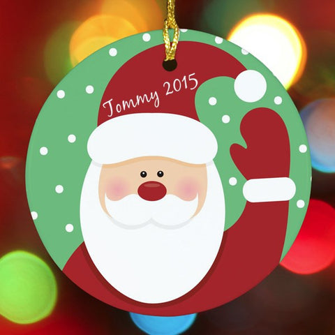Santa Personalized Christmas Ornament