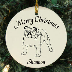 Custom Bulldog Ornament