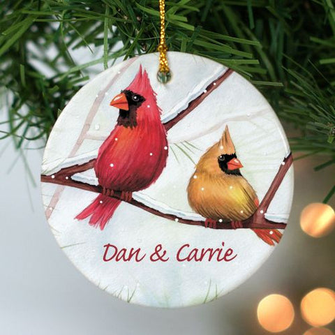 Cardinals Personalized Christmas Ornament