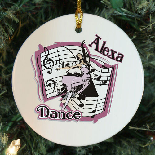 Dance Personalized Christmas Ornament