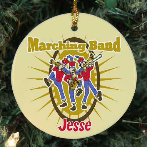 Marching Band Personalized Christmas Ornament
